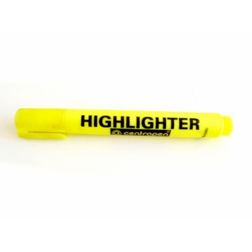 Destacador Amarillo Marca Centropen