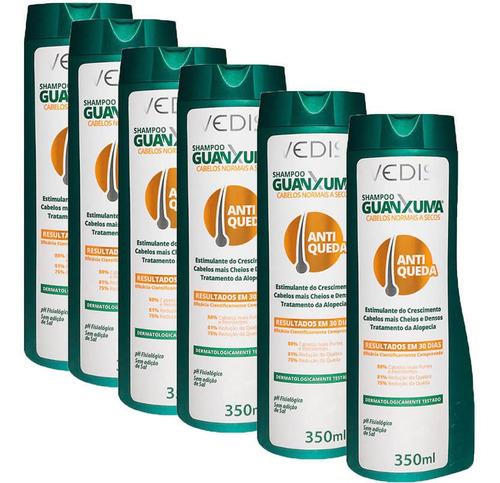 Shampoo Guanxuma Cabelos Secos 6 X 300ml Vedis