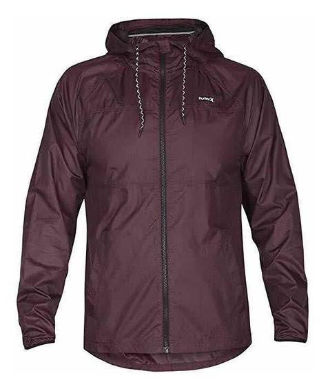 Rompevientos Hurley Protect Solid Jacket Burgundy