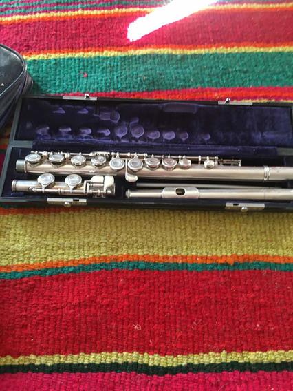 Flauta Traversa Yamaha Yfl-34 Cabeza Plata De Concierto