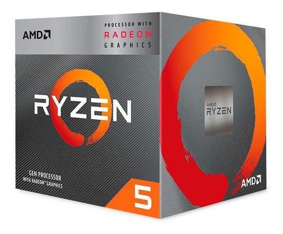 Processador Amd Ryzen 5 3400g Quad-core 3.7ghz (4.2ghzturbo)