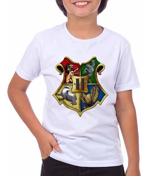 Camiseta Infantil Harry Potter Hogwart Do Tam: 2 Ao 12