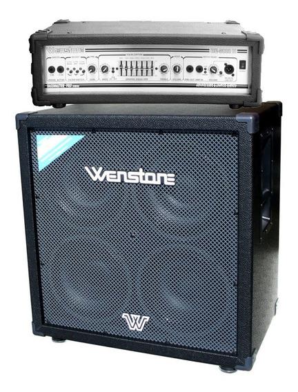 Amplificador De Bajo Wenstone Cabezal Be3000h + Caja 4x10