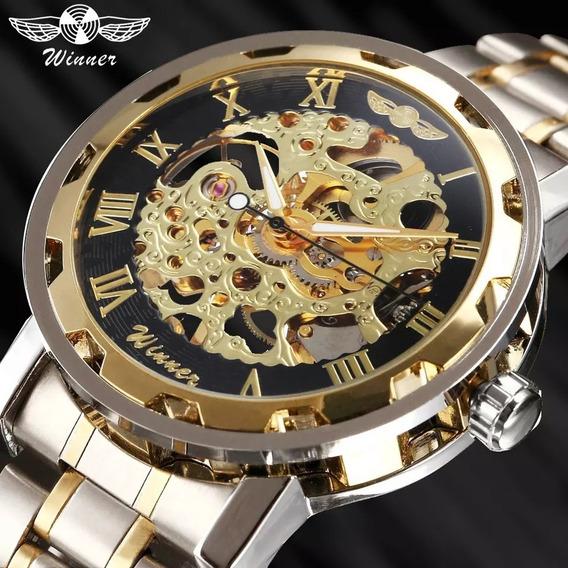 Relógio Winner Mecânico A Corda