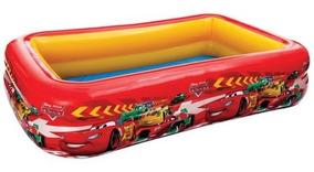 Alberca Inflable Cars Vinilo Rectangular 2.6 M Niños Intex