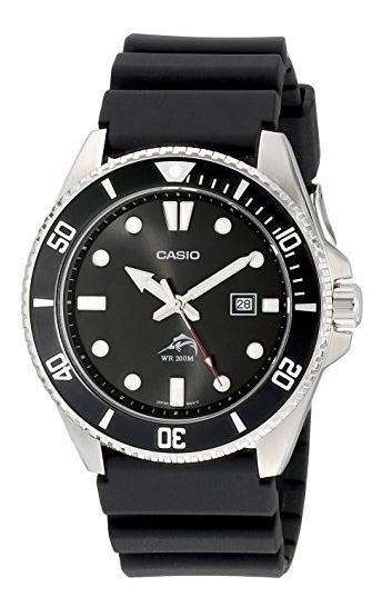 Reloj Casio Analógico Negro Correa De Resina Mdv106-1av