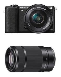 Cámara De Lentes Intercambiables Sony Alpha A5100 Con Lentes