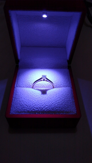 Anillo De Compromiso Oro Y Diamante