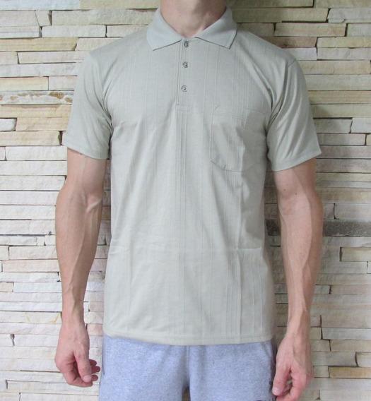 Camisa Gola Polo Poliviscose Canelada Com Bolso