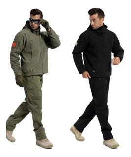 Pantalon Trekking Softshell Alta Montaña Tactico Impermeable