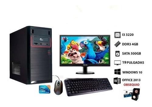 Imagen 1 de 2 de Computadora I3 Monitor Teclado Mouse Y Cornetas