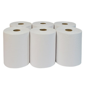 Papel Toalha Bobina 100% Celulose 6x200m 26g 2 Por Envio