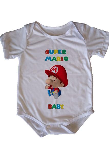 Body Infantil Super Mario - Baby Mario