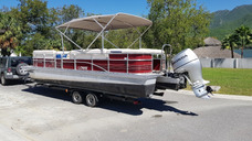 Pontoon Party Boat Lowe Voyager En 25 Pies Para Paseo