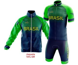 Conjunto Olimpico Camisa Berm + Jaq Corta Vento Sódbike
