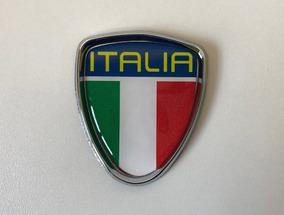 Emblema Escudo Itália Resinado Carro Adesivo