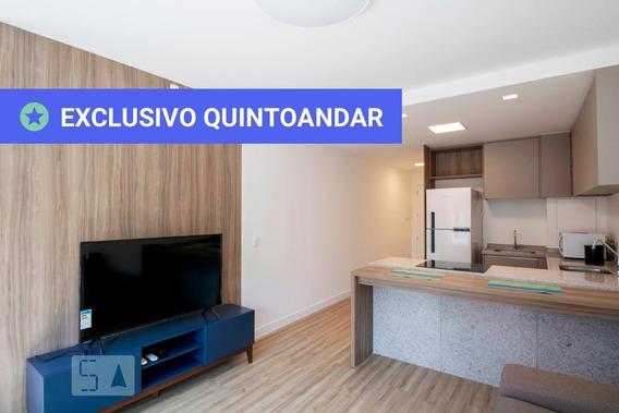 Apartamento No 8º Andar Com 1 Dormitório E 1 Garagem - Id: 892950335 - 250335