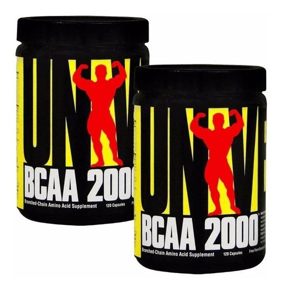 Bcaa 2000 Universal Nutrition 2 Envases X 120 Capsulas