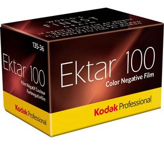 Película Kodak Negativa Color Ektar 100asa 35mm X36