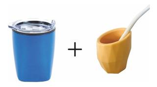 Vaso Térmico Travel Mug Bogotá + Mate De Plástico
