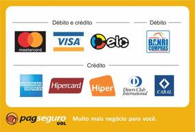 Adesivo Cartão De Crédito Pagseguro Moderninha E Minizinha