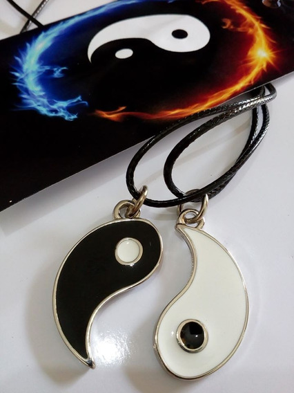 Colar Yin Yang Casal Duplo Amizade Namorado Bem E O Mal