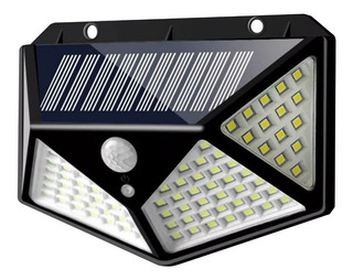 Luz Panel Solar 100 Led Con Sensor De Movimientos