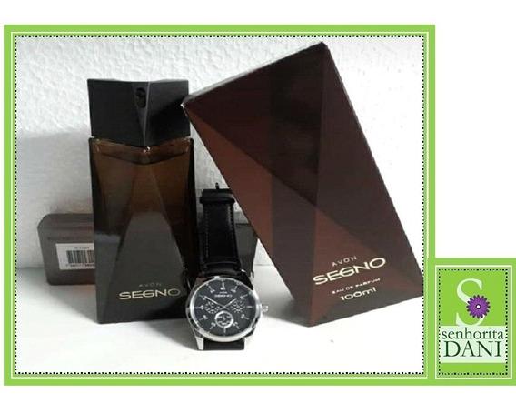 Perfume Masculino Segno 100ml + Lindo Relógio Frete Grátis