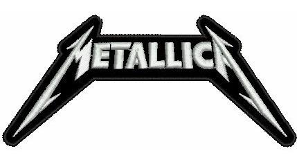 Patch Bordado Metallica Logo Termocolante 10 Cm.