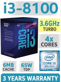 Intel Core I3 8100 Coffelake Com Caixa, Cooler E Garantia!