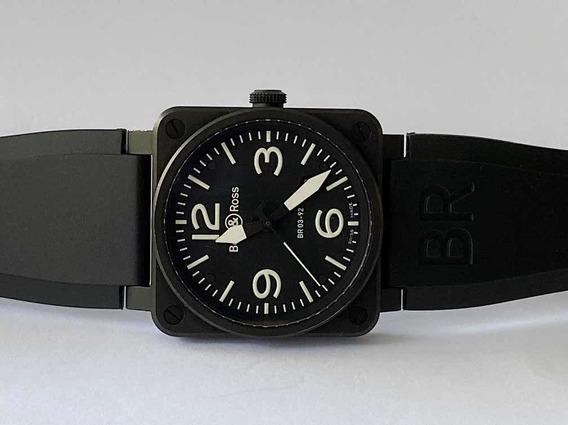 Bell & Ross Br 03-92 , All Black , 42mm E Pulseira Extra!!!