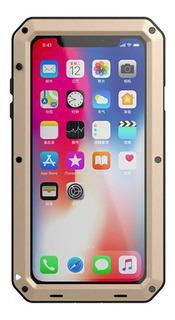 Ouro iPhone Xr Para Apple Metal Três Prova Telefone Celular