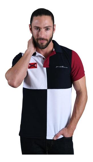 Duo De Camisas Tipo Polo Porto Blanco Mujer O Hombre Bloques