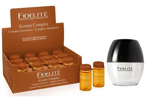 Caja De Ampollas Complejo Keratínico X12 + Shaker - Fidelite