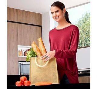 Bolsa Supermercado Ecologica Reusable Interior Plastificado