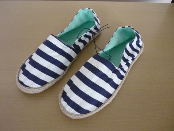 Vendo Zapatos De Tela Con Filo De Soga Marca H Y M T-8,5