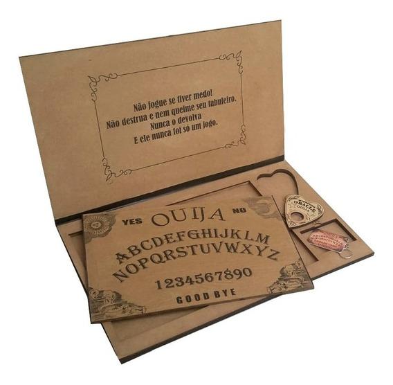 Tabuleiro De Ouija Impresso C/ Maleta Verniz