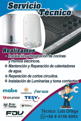 Instalacion, Mantencion Y Reparacion De Termos Electricos