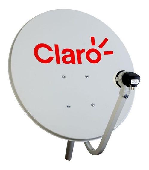 Antena Mini Tv Parabolica Vivensis 60cm Para Claro Tv