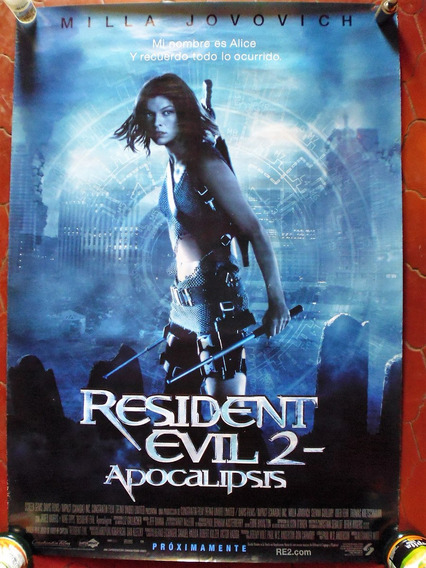 Poster Original Cine Resident Evil 2 Apoc. 2004 100x70