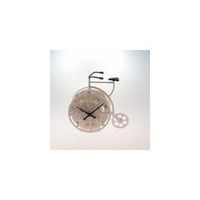 Relógio De Mesa Bicicleta Branca Plástico 17x17 Cm