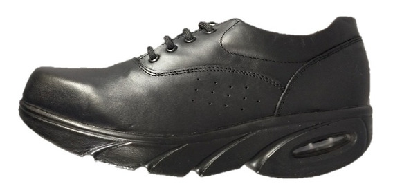 Zapato Negro Alto Confort Chef Enfermera Dr Hosue 9703 Masai