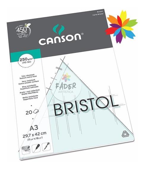 Block Canson Bristol A3 29,7x42cm 250g 20hojas Barrio Norte