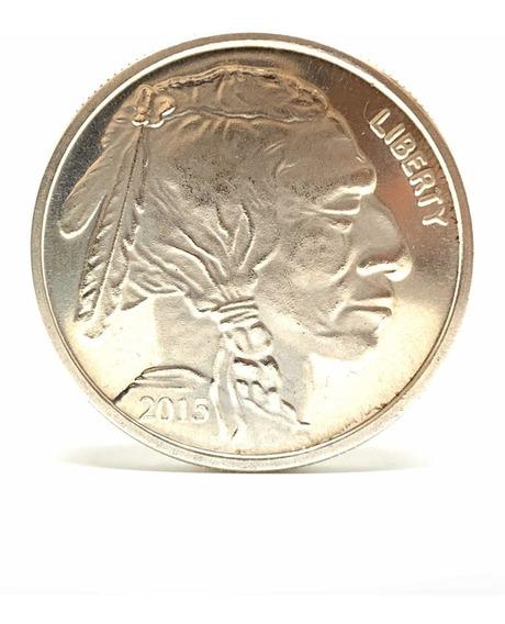 Moneda Onza Troy Plata 999 Indio