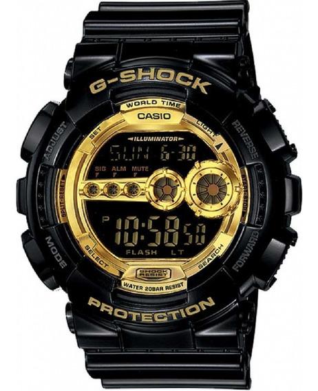 Relógio G-shock Digital Preto Dourado Gd-100gb-1dr Masculino