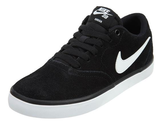 Tenis Original Nike Sb Check Solar Negro Blanco Caballero