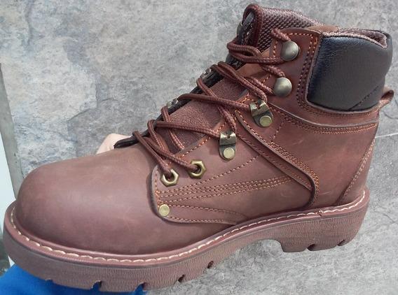 Botas Botines Cuero Suela Zapato Calzado Trekkin Trabajo Dia