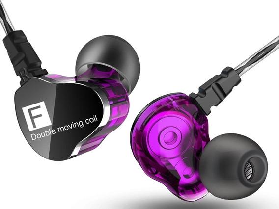 Fone De Ouvido In Ear Qkz Ck9 Pro Retorno De Palco Dj Gamer