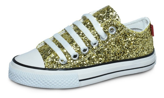 Zapatillas De Glitter Importado. Del 27 Al 33. G.s