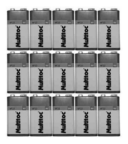 Kit C/ 100 Pilhas Baterias 9v Multitoc 6f22